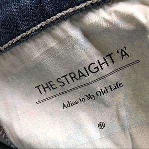 "MOTHER Skirts - Mother The Straight ""A"" Skirt Adios To My Old Life"